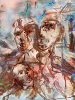 Peinture acrylique, palette graphique