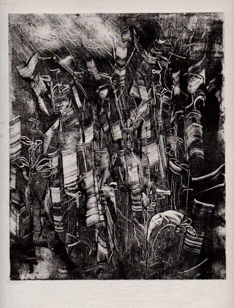 Des arbres, monotype (20*25)