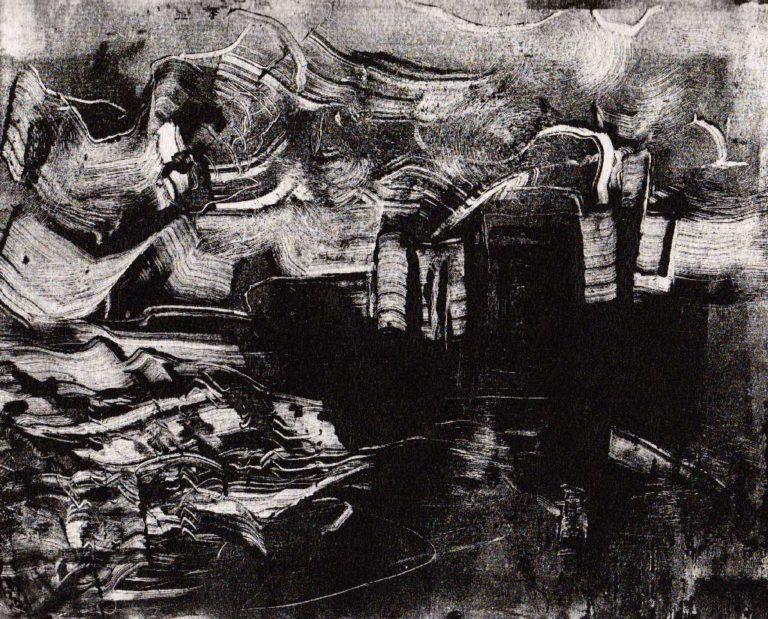 Bord de mer, monotype (20*25)